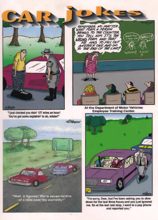 Auto related cartoons