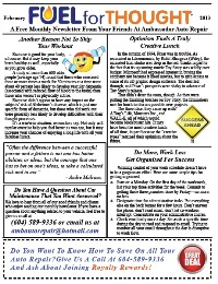 February 2013 Ambassador Auto Repair Newsletter